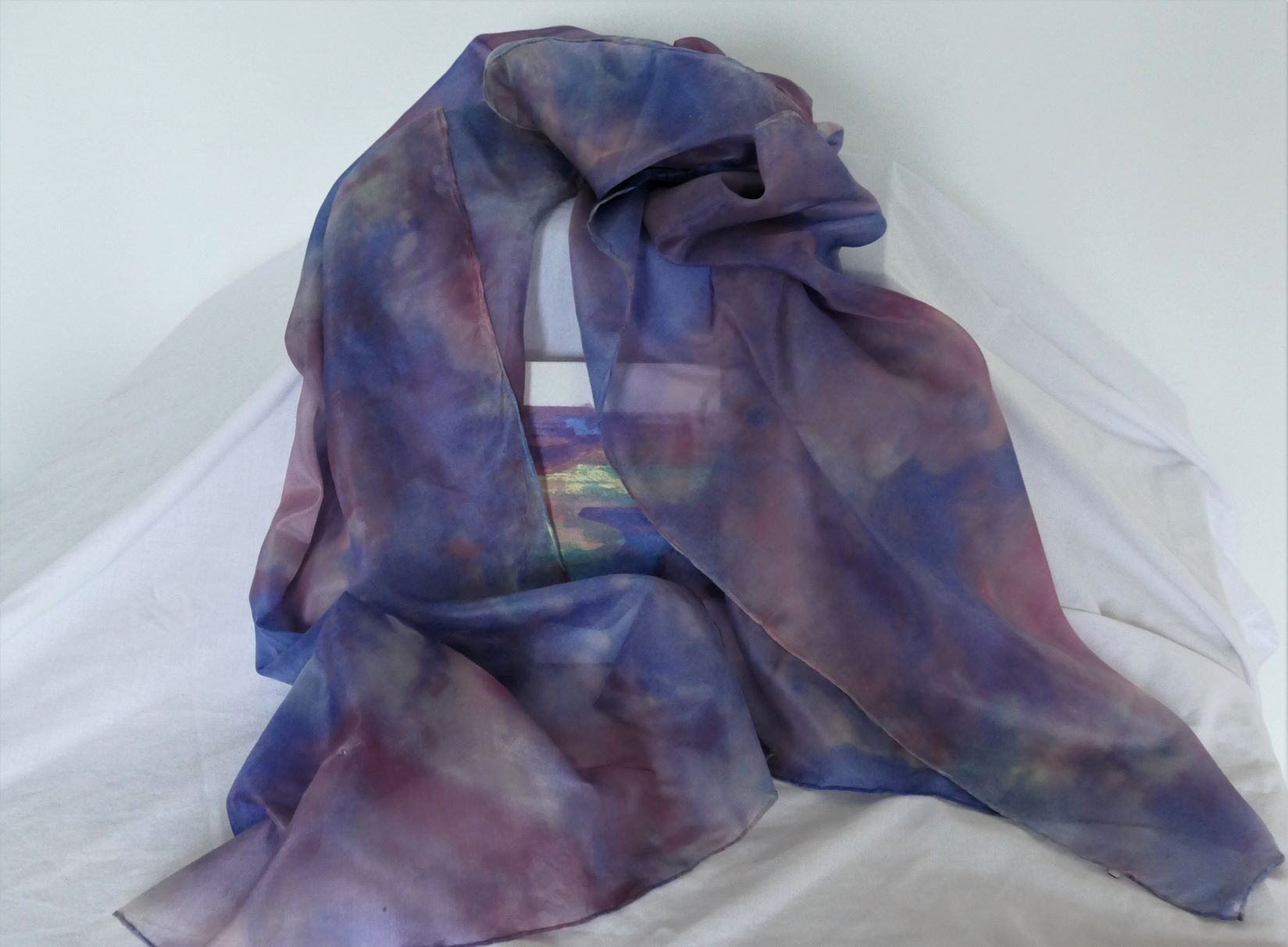 Hand painted large shawl/scarf